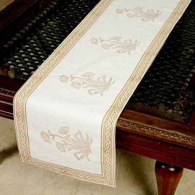 Jodhaa White, Brown 71 cm Table Runner