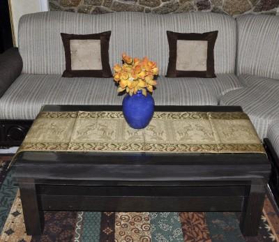 Lal Haveli Beige 152.4 cm Table Runner(Silk) at flipkart