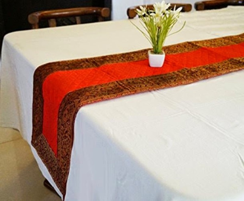 Indha Craft Red 182.9 cm Table Runner(Polyester)