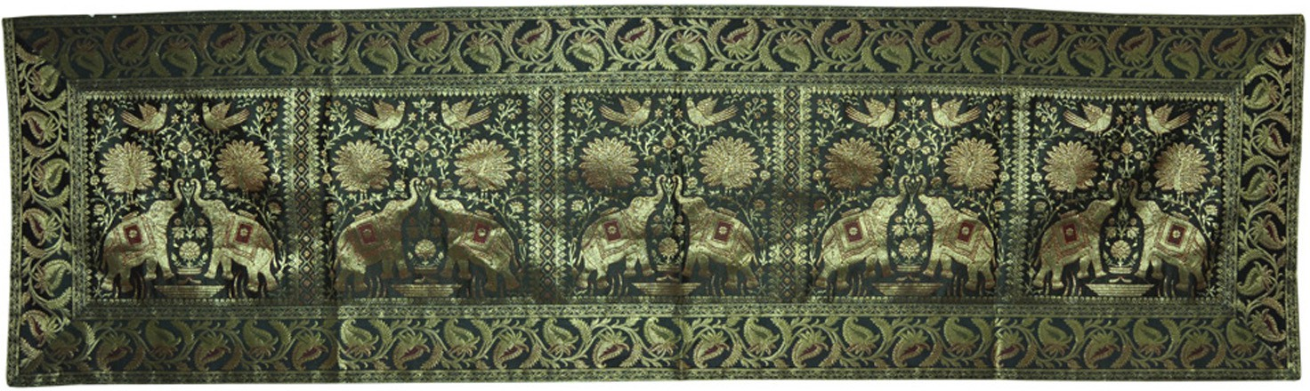 Lal Haveli Green 40.64 cm Table Runner class=