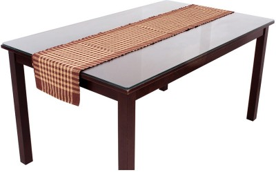 Dhrohar Brown 185 cm Table Runner