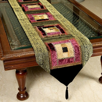 Jodhaa Black, Gold 51 cm Table Runner