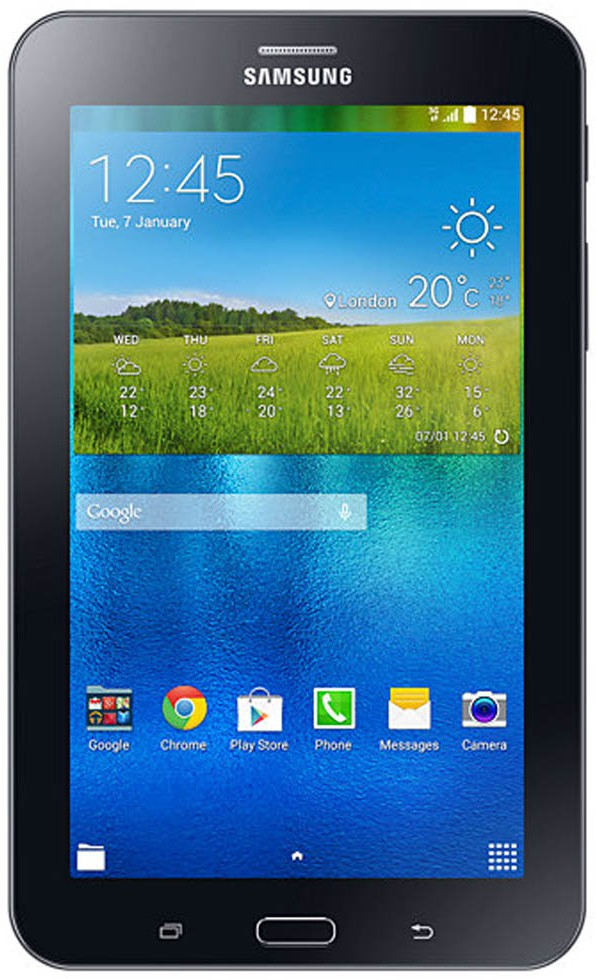 View SAMSUNG Galaxy Tab 3 V T116 Single Sim Tablet 8 GB 7 inch with Wi-Fi+3G(Ebony Black) Tablet Note Price Online(Samsung)