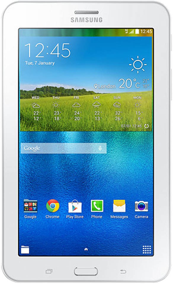View SAMSUNG Galaxy Tab 3 V SM-T116NY Single Sim Tablet 8 GB 7 inch with Wi-Fi+3G(Cream White) Tablet Note Price Online(Samsung)