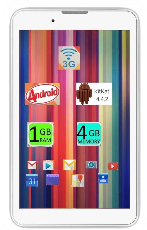 I KALL IK1 (1+4GB) Dual Sim 3G Calling Tablet -White 4 GB 7 inch with 3G
