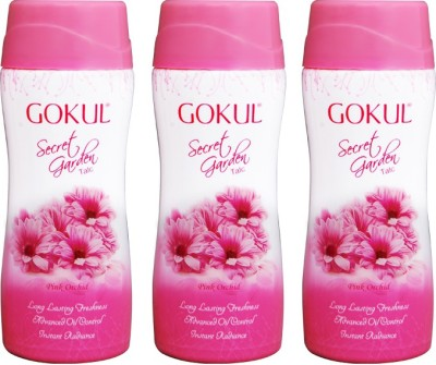 Gokul Secret Garden Talc (Pack of 3)(50 g)