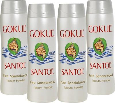 Gokul Pure Sandalwood Talcum Powder (Pack of 4)