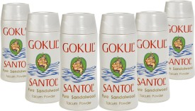 Gokul Pure Sandalwood Talcum Powder(Pack of 6)