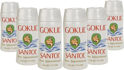 Gokul Pure Sandalwood Talcum Powder(Pack of 6)