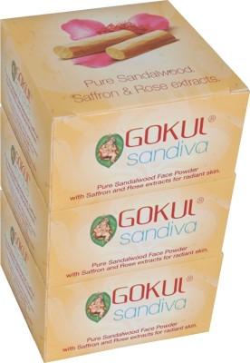 Gokul Sandalwood Face Powder (Pack of 3)