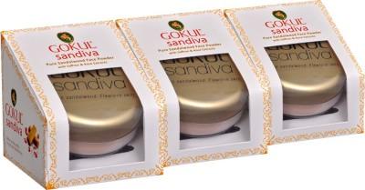 Gokul Sandalwood Face Powder (Pack of 3)(10 g)