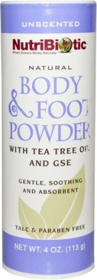NutriBiotic Natural Body & Foot Powder, Unscented