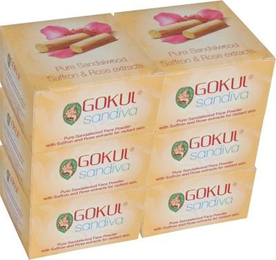 Gokul Sandalwood Face Powder (Pack of 6)