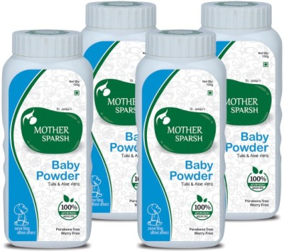 Mother Sparsh Ayurvedic Baby Powder (Pack of 4)(400 g)