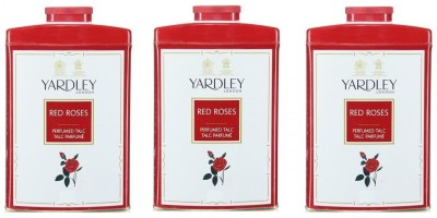 Yardley London Red Rose Perfumed Talc (Pack of 3)(750 g)