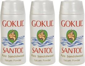 Gokul Pure Sandalwood Talcum Powder (Pack of 3)