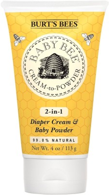 Burt's Bees Baby Bee Cream To Powder, 4 Ounces(113 g)