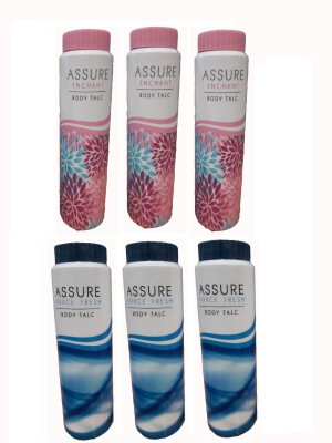 Assure Body Talc - Men & Women Combo Pack(600 ml)