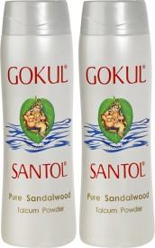 Gokul Pure Sandalwood Talcum Powder (Pack of 2)