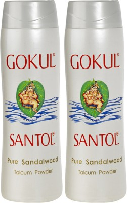 Gokul Pure Sandalwood Talcum Powder (Pack of 2)