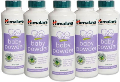 Himalaya Herbal Baby Powder 100gm(Pack Of 5)(500 g)