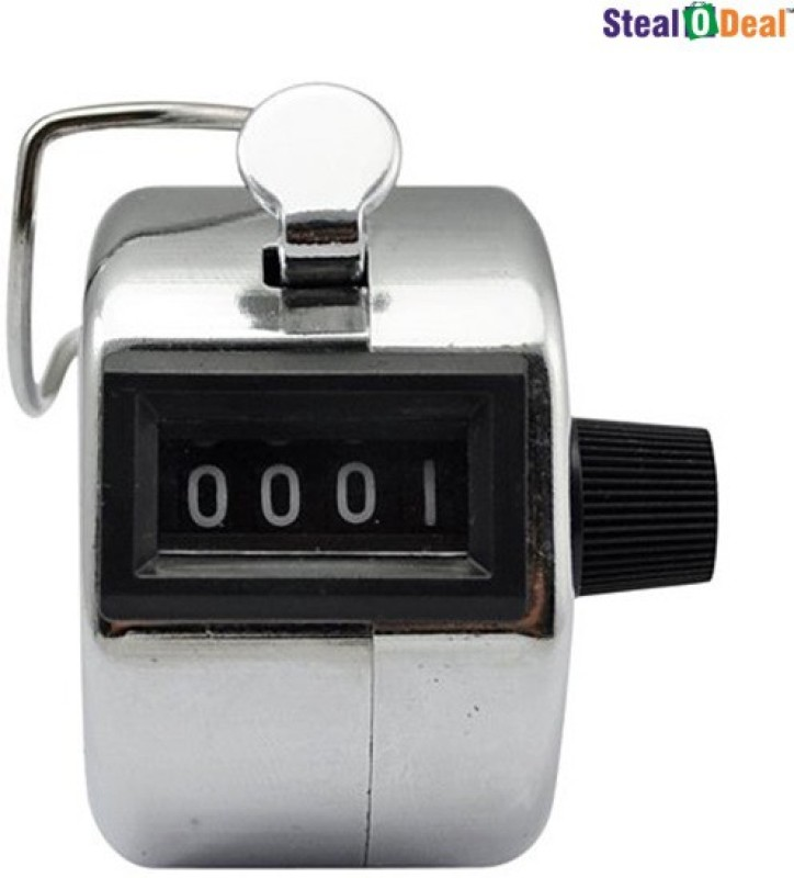 Stealodeal Analog Tally Counter(Silver Pack of 1)