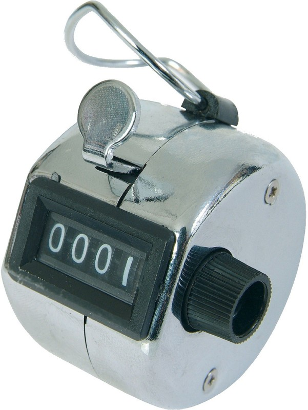 MK Hand Held 4 Digit Manual Mechanical Click Analog Tally Counter(Multicolor Pack of 1)