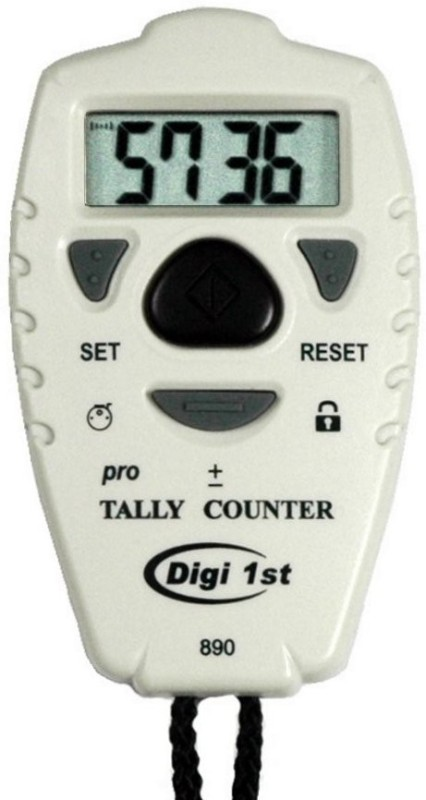 Digi 1st Digital Tally Counter(White Pack of 1)