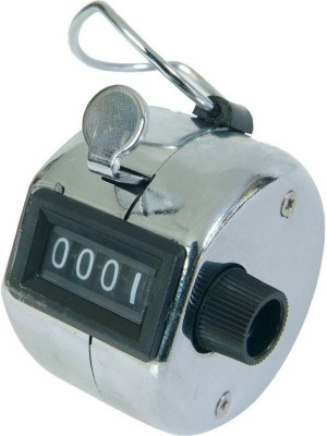 Prostuff Hand Held 4 Digit Manual Mechanical Click Analog Tally Counter(Multicolor Pack of 1)