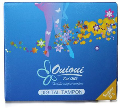 ouioui Tampon Size SUPER for heavy flow(Non Applicator) Tampons(Pack of 8)
