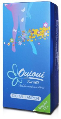 ouioui Tampon - Size - REGULAR for medium flow - Pack of 16 Pieces (Non Applicator) Tampons(Pack of 16)