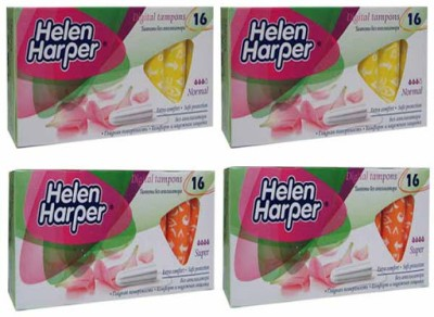 Helen Harper Normal and Super Non-Applicator Tampons