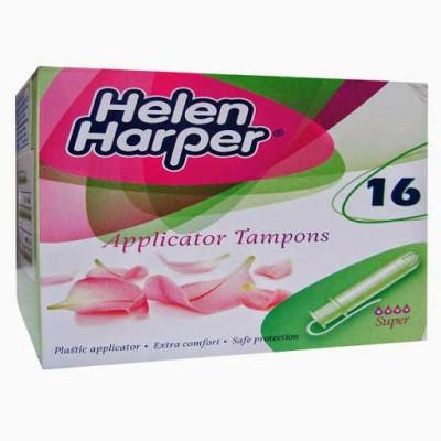 Helen Harper Medium to Heavy Flow Super Applicator Tampons