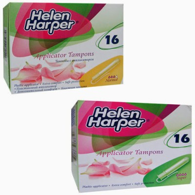 Helen Harper Super and Regular Applicator Tampons