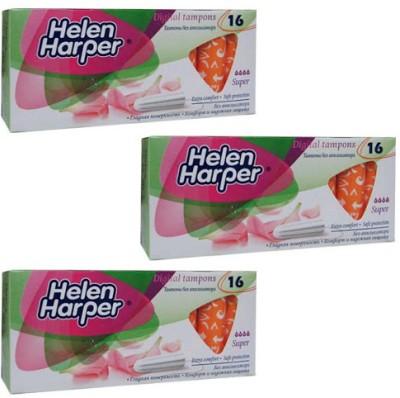 Helen Harper Medium to Heavy Flow Super Tampons(Pack of 48)