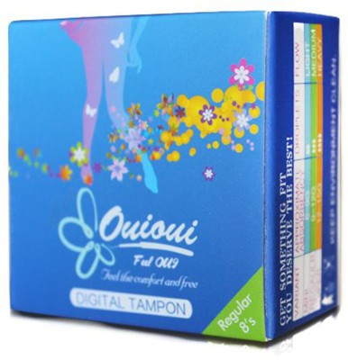 ouioui Size REGULAR for medium flow - (Non Applicator) Tampons(Pack of 8)
