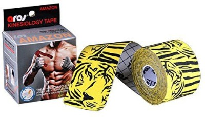 ARES Kinesiology Tape Tape Protection Tape(Black, Yellow)