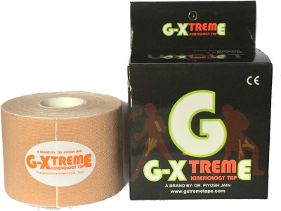 Gxtreme KINESIOLOGY TAPE BEIGE 5CM X 5M COTTON Support Tape(Beige)