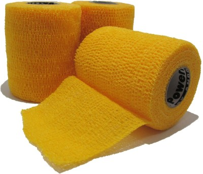 Powerflex Cohesive Flexible Bandage/tape Injury Tape(Yellow)