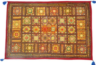 Indias Creation Mirror Wor Tapestry(Multicolor)