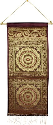 Lal Haveli Home Decoration Silk Wall Hanging Letter Holder Ethnic0&0Traditional Tapestry