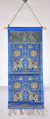 Lal Haveli Home Décor 2 Pocket Silk Letter Holder Wall Hanging Ethnic0&0Traditional Tapestry
