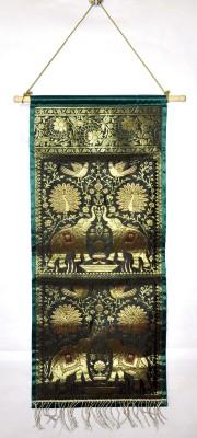 Lal Haveli Ethnic Handmade 2 Pocket Silk Magzine Holder Wall Hanging Ethnic0&0Traditional Tapestry