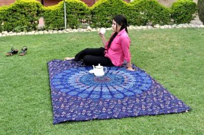 Lal Haveli Home Décor Double Bedsheet Mandala Ethnic0&0Traditional Tapestry