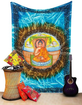 Halowishes Jaipuri Buddha Print Design Tapestry Religious Tapestry