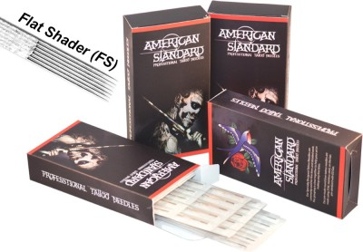 American Standard TN-9FS Disposable Flat Shader Tattoo Needles