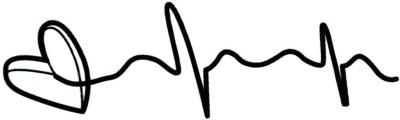 Smilendeal T2079 Heart Temp Body Tattoo - Black(Heart)