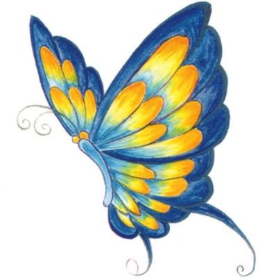 Smilendeal T2093 Butterfly Temp Body Tattoo - Multi(Butterfly)