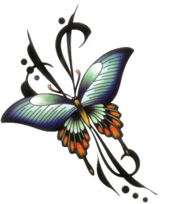 Smilendeal T2099 Butterfly Temp Body Tattoo - Multi(Butterfly)