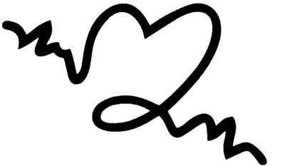 Smilendeal T2037 Heart Temp Body Tattoo - Black(Heart)
